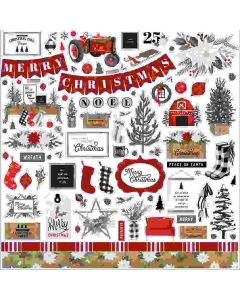 Farmhouse Christmas Element Stickers - Carta Bella