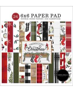 "Farmhouse Christmas 6"" x 6"" Paper Pad - Carta Bella"
