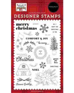 Merry Snowflakes Stencil - Farmhouse Christmas - Carta Bella