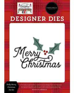 Holly Merry Christmas Dies - Farmhouse Christmas - Carta Bella