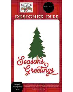 Season's Greetings Dies - Farmhouse Christmas - Carta Bella