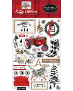 Farmhouse Christmas Puffy Stickers - Carta Bella