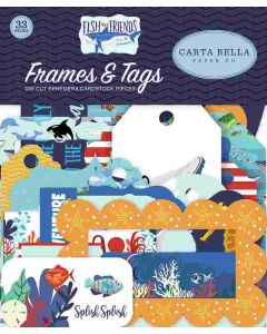 Fish Are Friends Frames & Tags - Carta Bella
