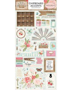 Farmhouse Market Chipboard Accents - Jen Allyson - Carta Bella*