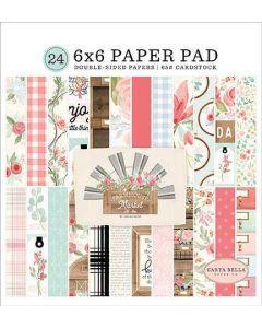 "Farmhouse Market 6"" x 6"" Paper Pad - Jen Allyson - Carta Bella*"