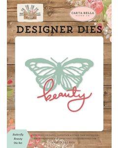 Butterfly Beauty Dies - Farmhouse Market - Jen Allyson - Carta Bella*