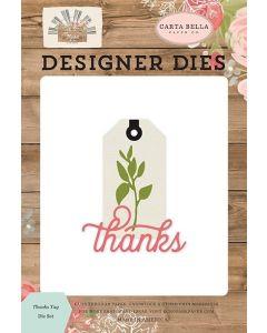 Thanks Tag Dies - Farmhouse Market - Jen Allyson - Carta Bella*