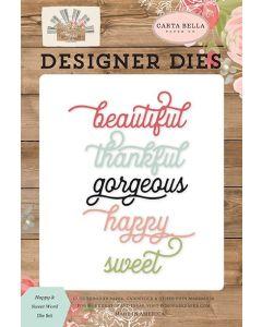 Happy Sweet Word Dies - Farmhouse Market - Jen Allyson - Carta Bella*