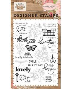 Happy Moments Stamps - Farmhouse Market - Jen Allyson - Carta Bella*