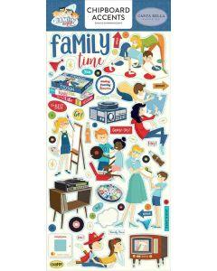 Family Night Chipboard Accents - Steven Duncan - Carta Bella