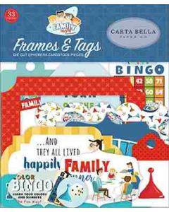 Family Night Frames Tags - Steven Duncan - Carta Bella*