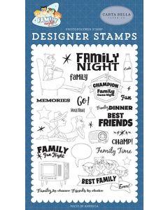 Family Time Stamps - Family Night - Steven Duncan - Carta Bella*