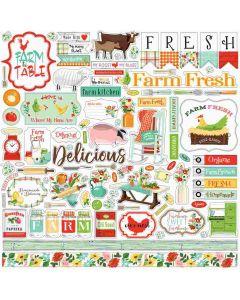 Farm To Table Element Stickers - Carta Bella