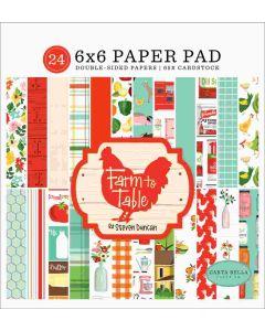 """Farm To Table 6 """"x 6"""" Paper Pad - Carta Bella"""