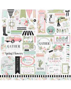 Flower Garden Element Stickers - Carta Bella