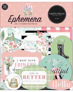 Flower Garden Ephemera - Carta Bella