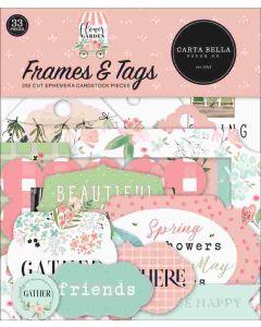 Flower Garden Frames & Tags - Carta Bella