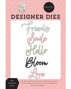 Hello Friends Word Dies - Flower Garden - Carta Bella