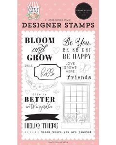 Bloom Grow Stamps - Flower Garden - Carta Bella