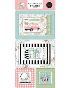 Flower Garden Chipboard Frames - Carta Bella