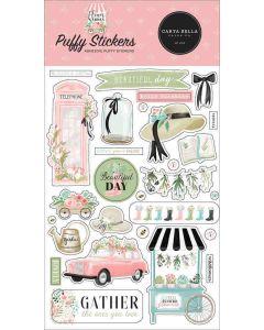 Flower Garden Puffy Stickers - Carta Bella