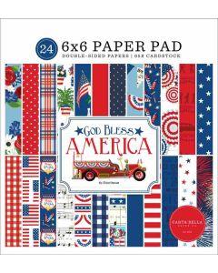 "God Bless America 6"" x 6"" Paper Pad - Carta Bella"
