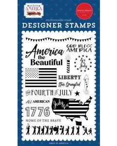God Bless America Stamps - Carta Bella