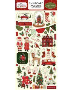 Hello Christmas Chipboard Accents - Carta Bella