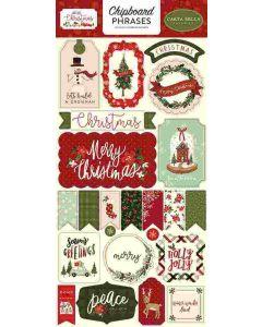 Hello Christmas Chipboard Phrases - Carta Bella