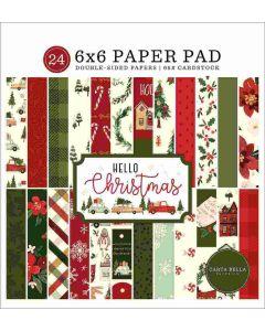 "Hello Christmas 6"" x 6"" Paper Pad - Carta Bella"