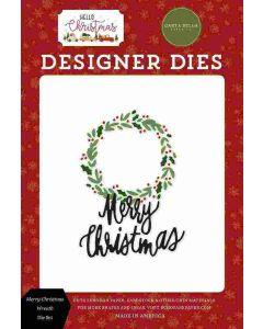 Merry Christmas Wreath Dies - Hello Christmas - Carta Bella