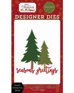 Season's Greeting Word Dies - Hello Christmas - Carta Bella