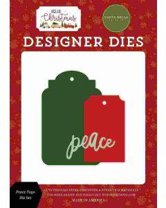 Peace Tags Dies - Hello Christmas - Carta Bella