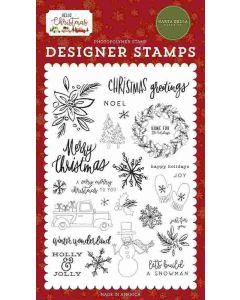 Christmas Greetings Stamps - Hello Christmas - Carta Bella