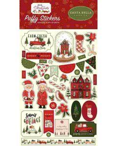 Hello Christmas Puffy Stickers - Carta Bella