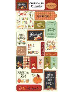 Hello Autumn Chipboard Phrases - Carta Bella