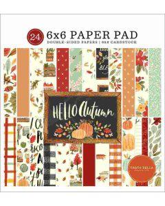 "Hello Autumn 6"" x 6"" Paper Pad - Carta Bella"