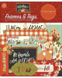 Hello Autumn Frames & Tags - Carta Bella