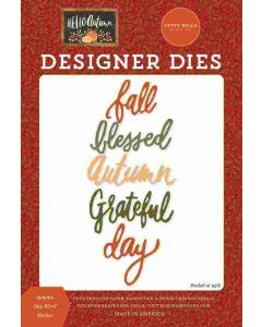 Autumn Day Word Dies - Hello Autumn - Carta Bella