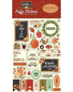Hello Autumn Puffy Stickers - Carta Bella