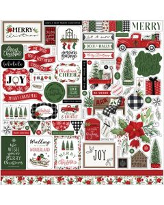 Home For Christmas Element Stickers - Carta Bella