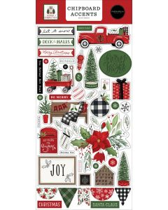 Home For Christmas Chipboard Accents - Carta Bella
