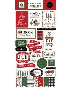 Home For Christmas Chipboard Phrases - Carta Bella