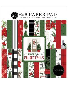 """Home For Christmas 6"""" x 6"""" Paper Pad - Carta Bella"""