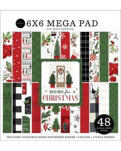 "Home For Christmas Cardmakers 6"" x 6"" Mega Pad - Carta Bella"