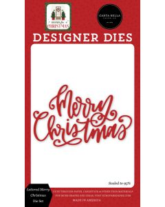 Lettered Merry Christmas Dies - Home For Christmas - Carta Bella
