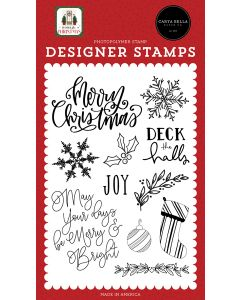 Joy Stamps - Home For Christmas - Carta Bella