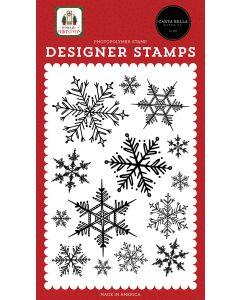 Snowflake Season Stamps - Home For Christmas - Carta Bella