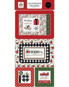 Home For Christmas Chipboard Frames - Carta Bella