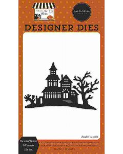 Haunted House Silhouette Dies - Halloween Market - Carta Bella